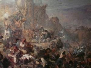"""Fragment d'un esbós de """"El gran dia de Girona"""" de Ramon Martí i Alsina"""