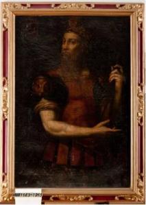 El rei visigòtic Wamba, en la interpretació de la galeria règia dels comtes de Barcelona